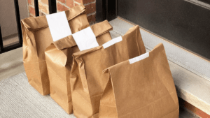 home delivery of shopping bags from Amazon